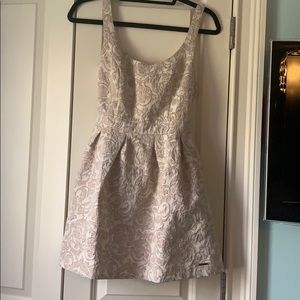 Abercrombie & Fitch cream embroidered dress